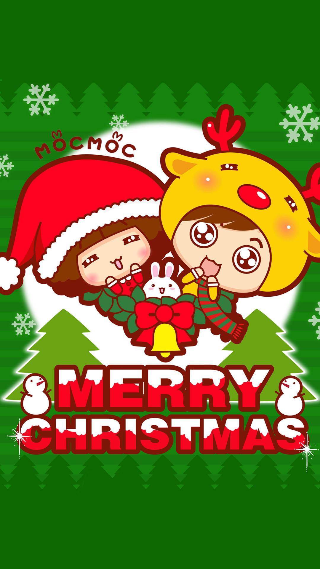 摩丝摩丝女圣诞手机壁纸
