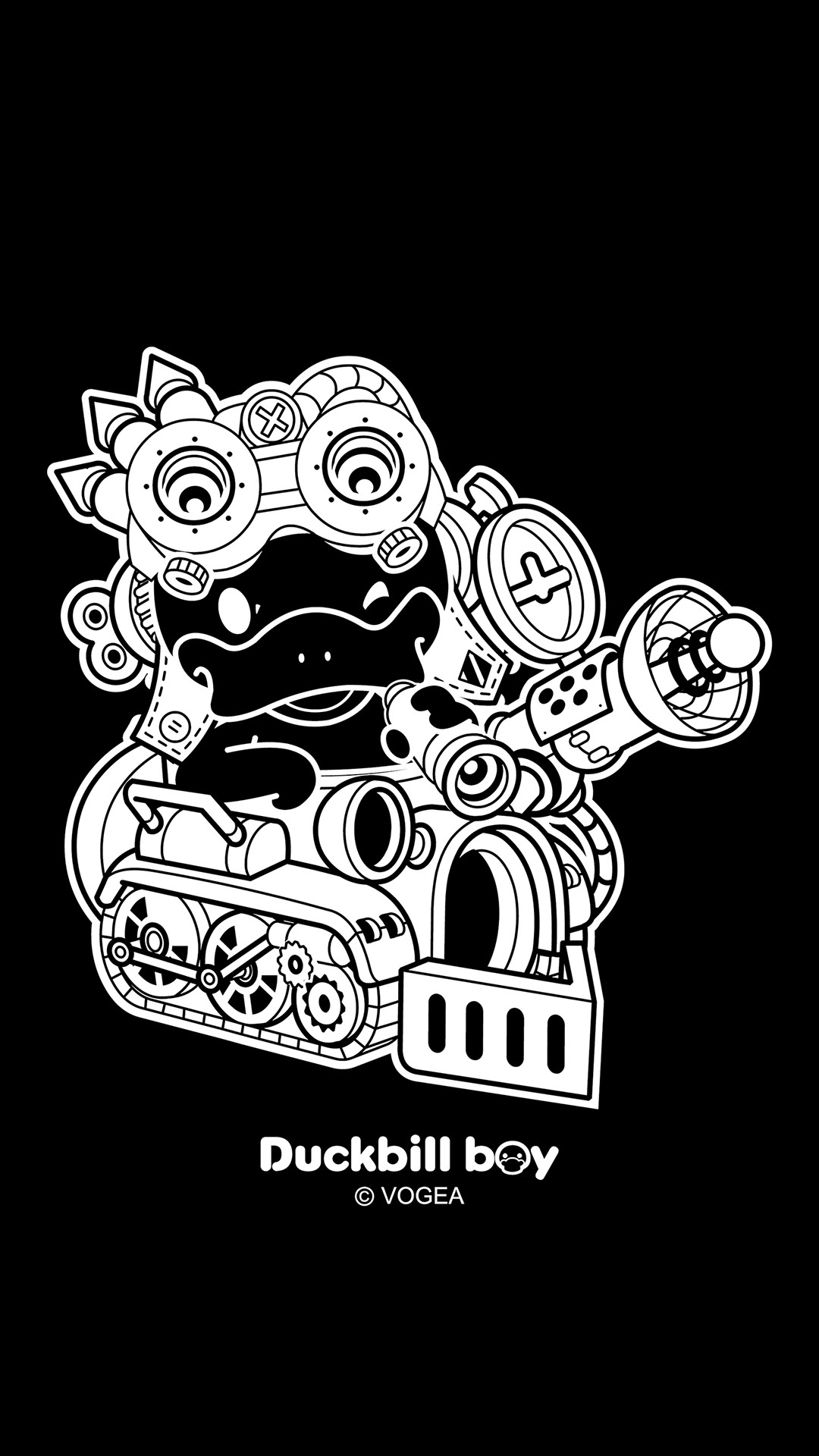 鸭嘴兽男孩与蒸汽朋克手机壁纸