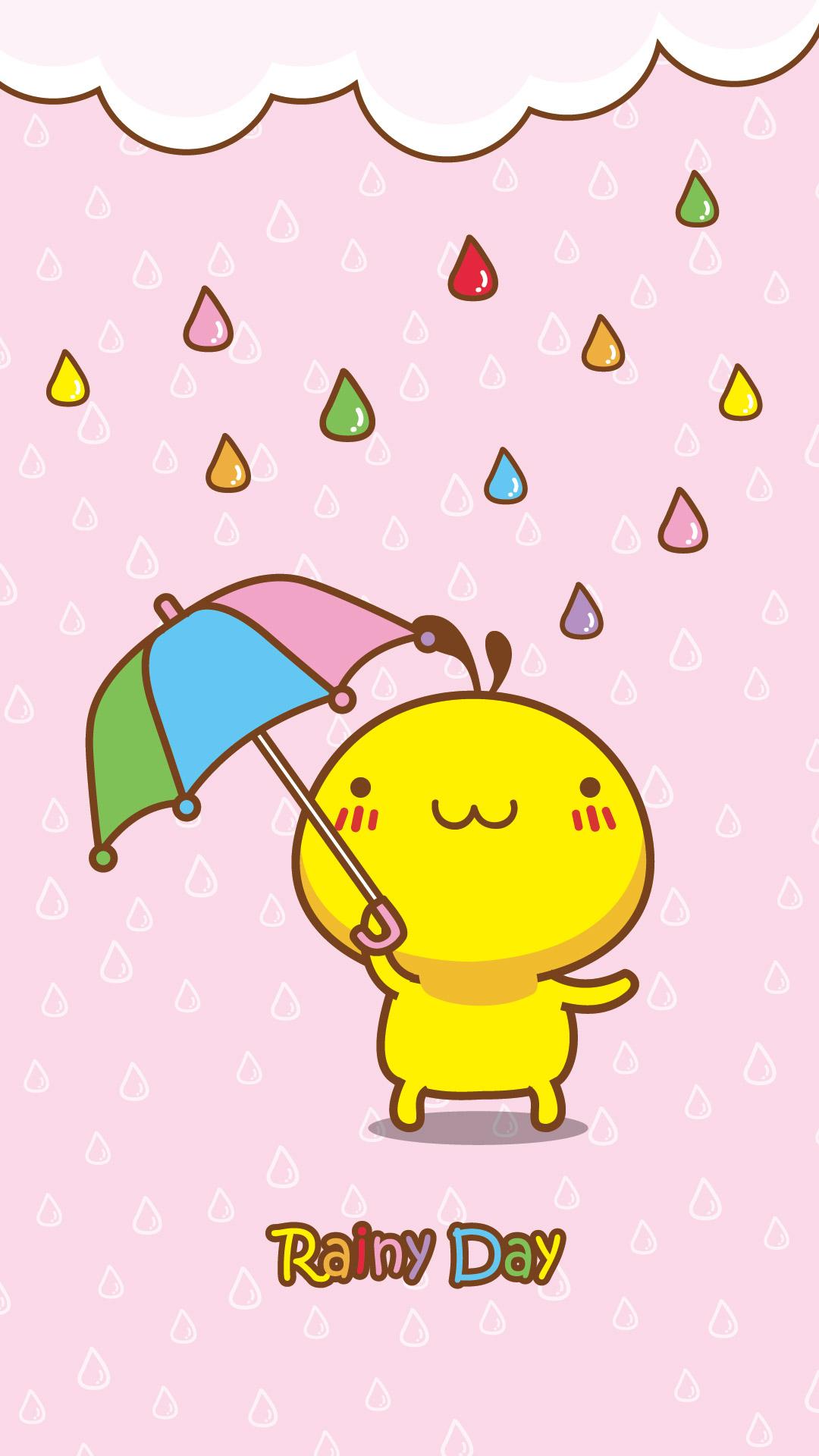 油爆叽丁雨天手机壁纸