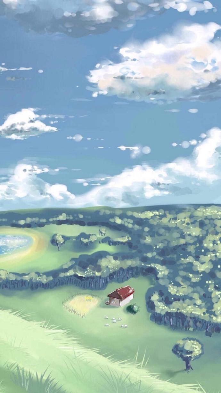 幽静风景插画手机壁纸