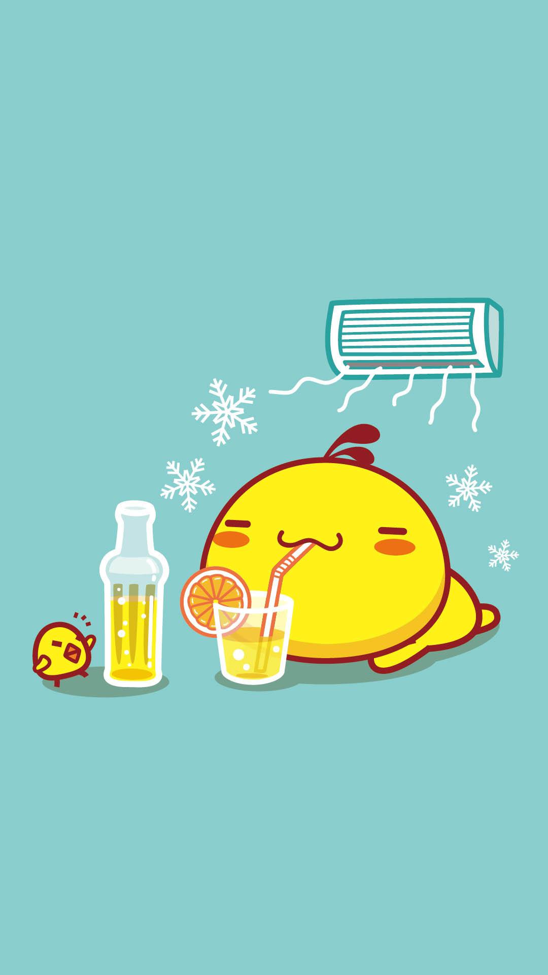油爆叽丁冰爽清凉夏日手机壁纸