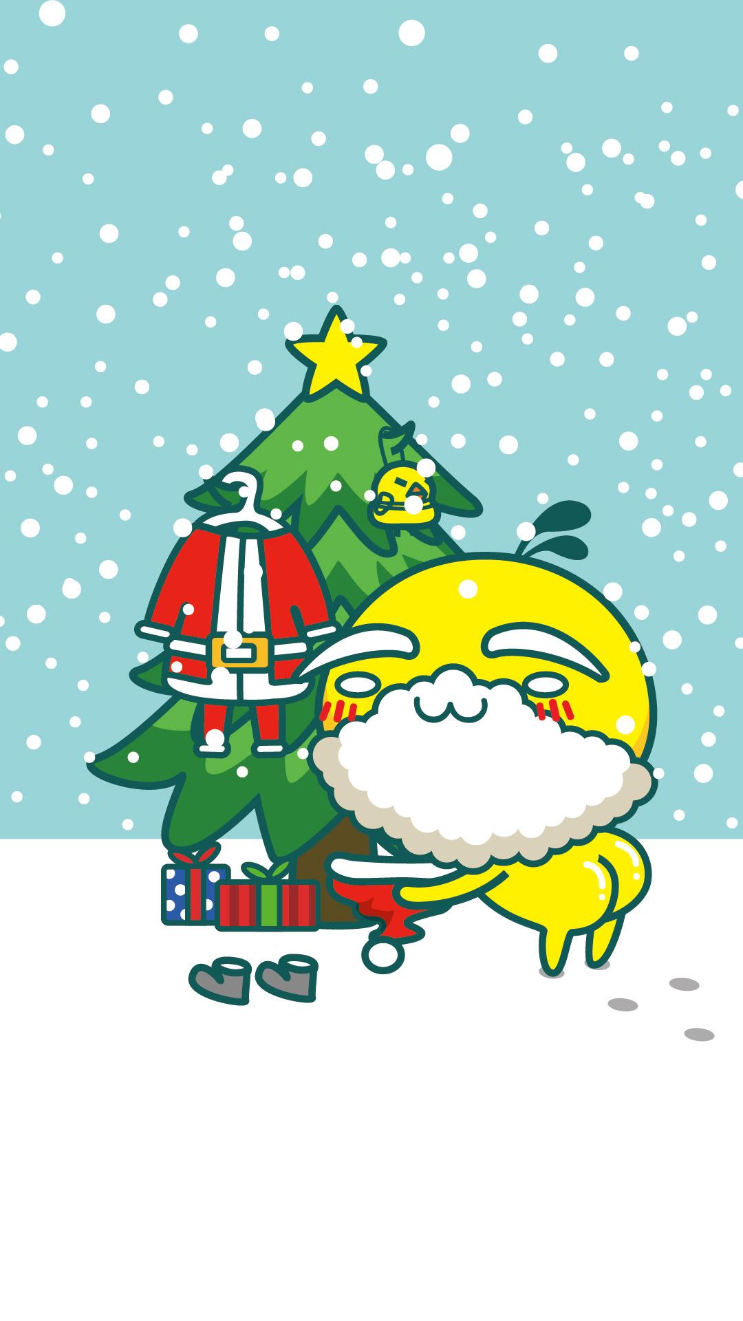 油爆叽丁圣诞风系手机壁纸