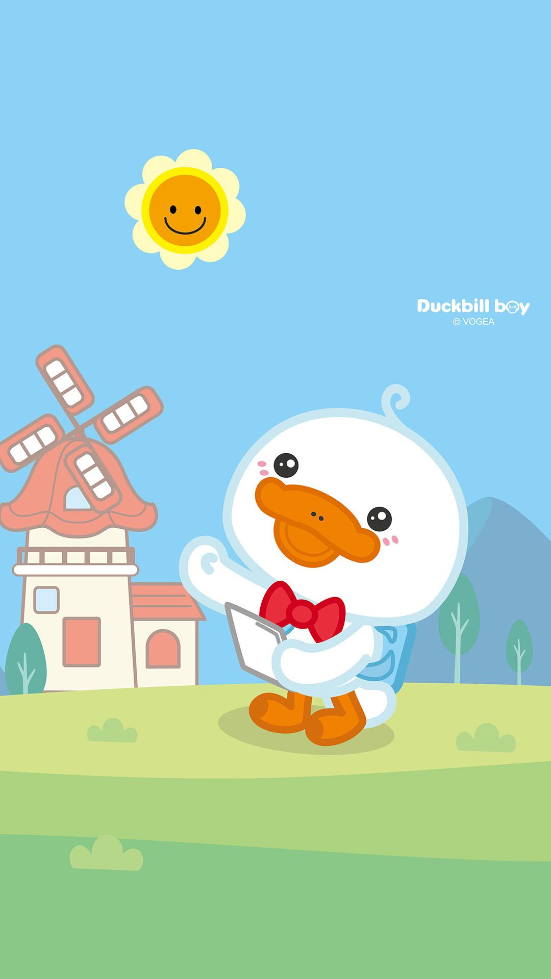 鸭嘴兽男孩《远游》主题萌萌哒手机壁纸