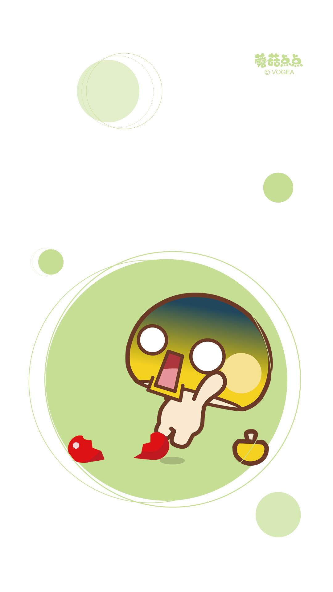 蘑菇点点情侣对对碰手机壁纸