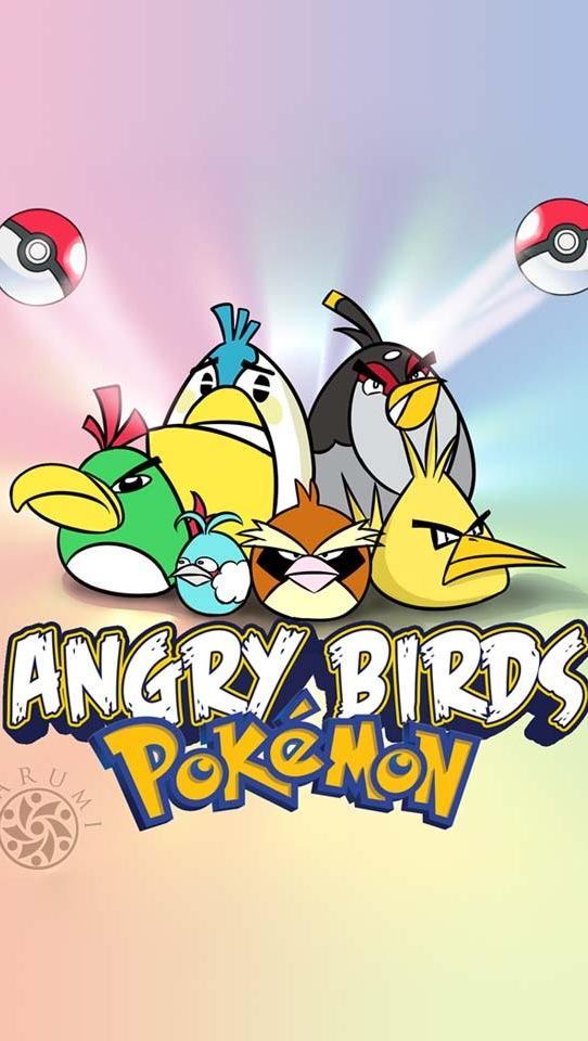 多色愤怒小鸟手机壁纸