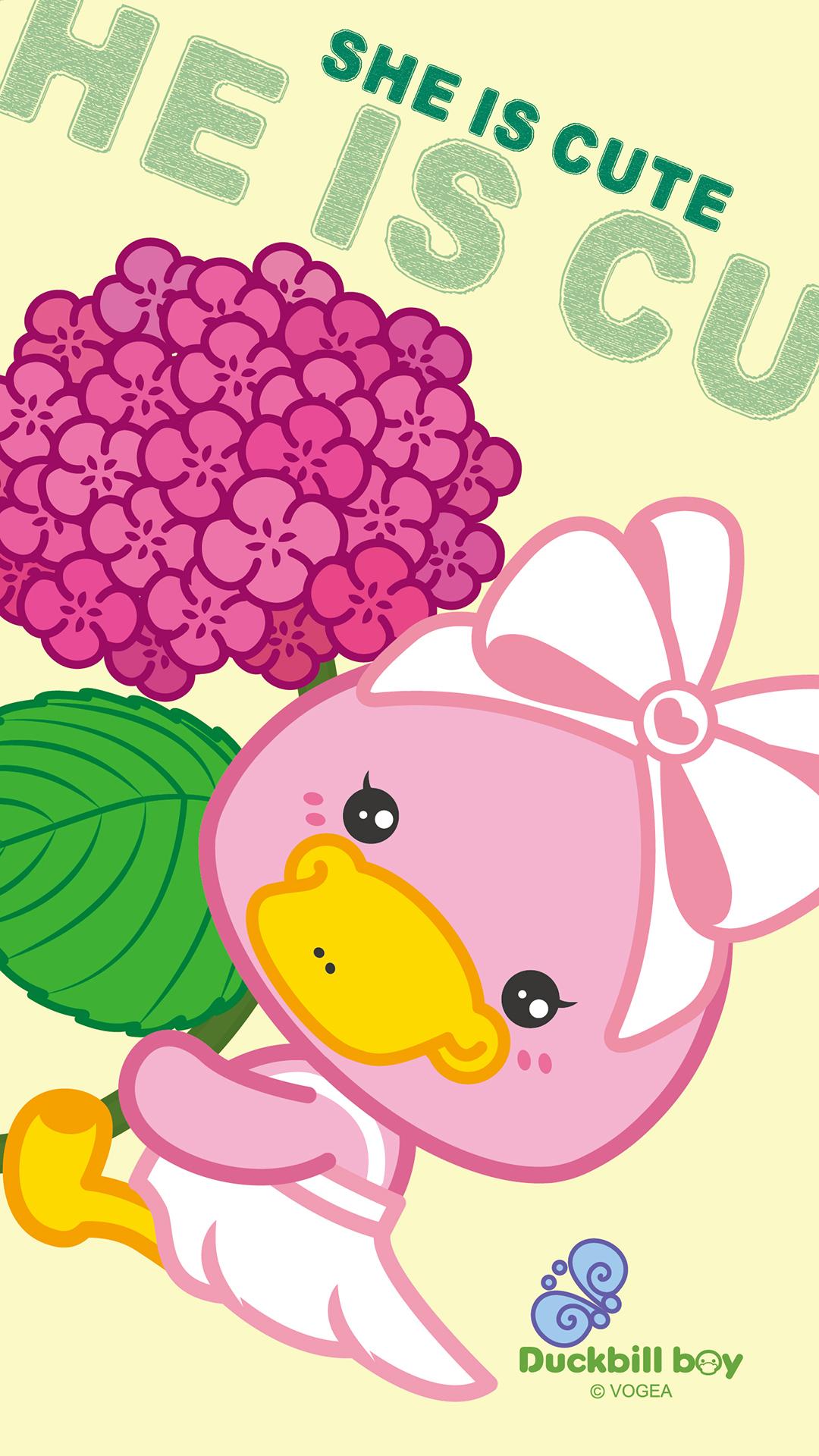 鸭嘴兽宝贝六一儿童节卡通手机壁纸