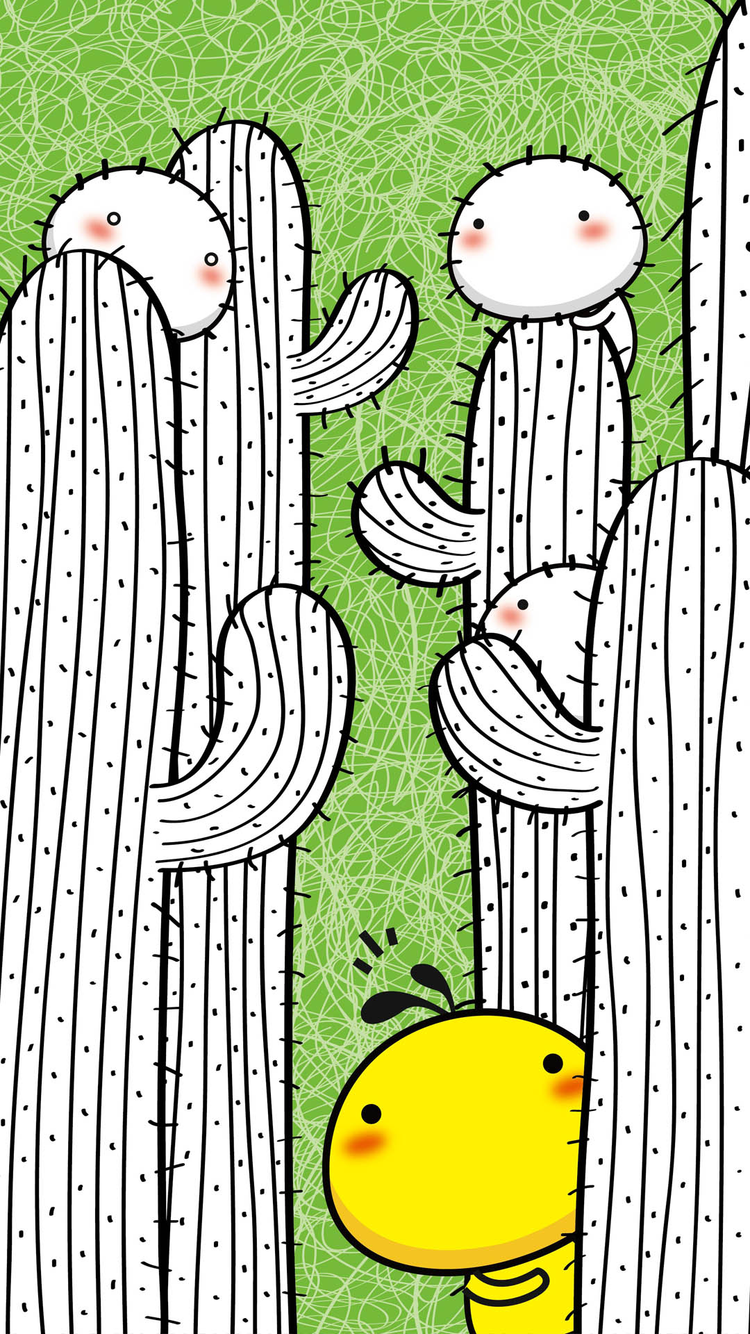 可爱的油爆叽丁卡通手机壁纸