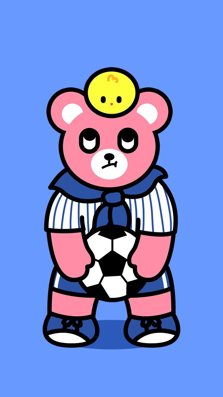 可爱的Luca熊手机壁纸