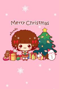 摩丝摩丝圣诞手机壁纸