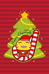 哈咪猫圣诞节手机壁纸