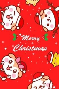 秋田君圣诞手机壁纸