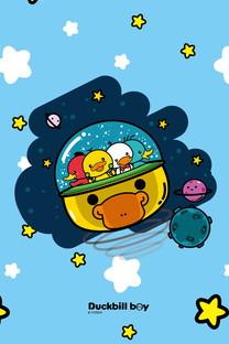 鸭嘴兽男孩之太空梦想手机壁纸