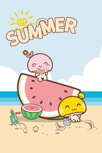 蘑菇点点情侣夏日系列