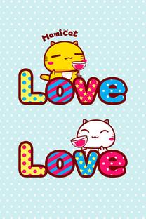哈咪猫的爱情手机壁纸