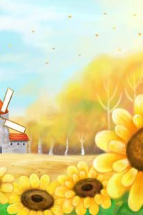 童话秋天插画壁纸