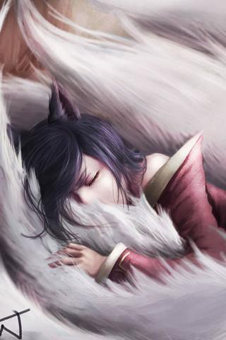 LOL九尾妖狐阿狸安卓手机壁纸图片