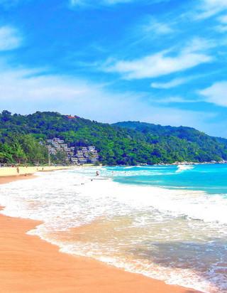 蓝色海岸高清风景手机壁纸-zol手机壁纸