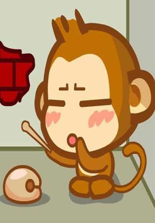 可爱嘻哈猴手机壁纸