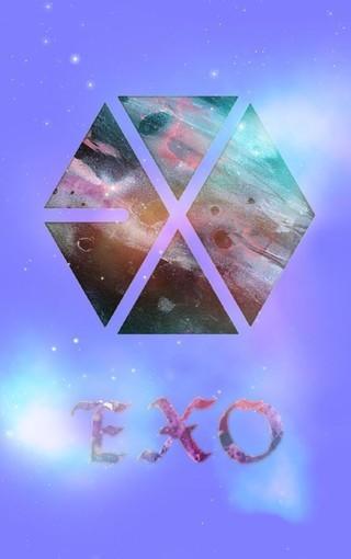 EXO锁屏LOGO壁纸