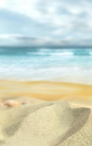 沙滩美景高清手机壁纸