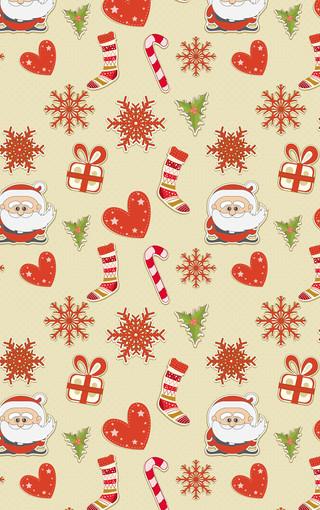 圣诞节小碎花可爱壁纸 第10页-zol手机壁纸