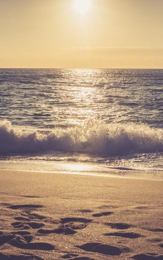 简约唯美海滩手机壁纸