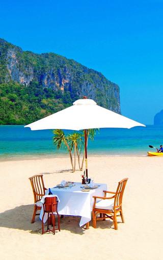 蓝色海岸高清风景手机壁纸图片