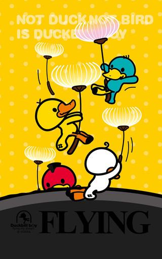 鸭嘴兽男孩放飞梦想手机壁纸图片