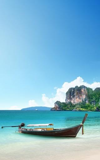 清凉海滩风景手机壁纸