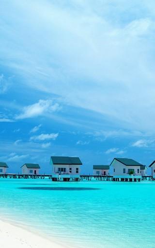马尔代夫蓝色海手机壁纸