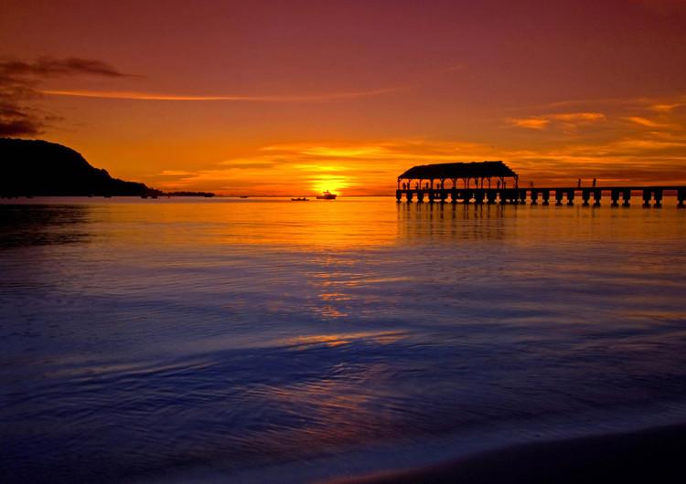 海边日落唯美宽屏手机壁纸