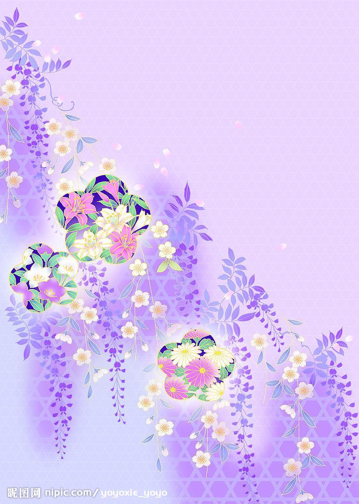 紫色牡丹矢量图